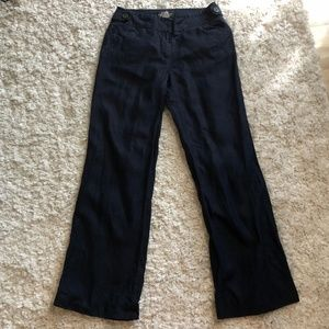 J. Crew Baird McNutt Navy Favorite Fit Linen Pants